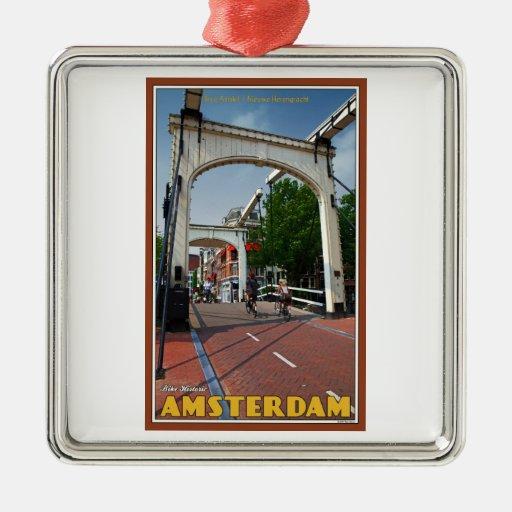 Amsterfdam - Gualterio Suskindbrug Adorno Navideño Cuadrado De Metal