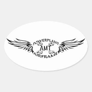 amt oval sticker