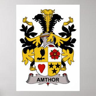 Amthor Family Crest Poster