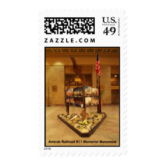 Amtrak Railroad 911 Memorial Monument Postage Stamps
