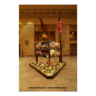 Amtrak Railroad 911 Memorial Monument Poster