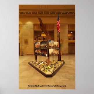 Amtrak Railroad 911 Memorial Monument Poster