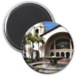 Amtrak Station And Fountain In Downtown San Diego 2 Inch Round Magnet