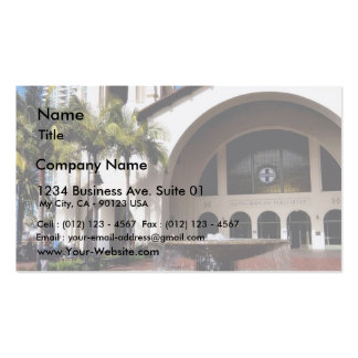 Amtrak Station And Fountain In Downtown San Diego Business Card Templates