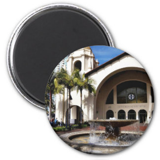 Amtrak Station And Fountain In Downtown San Diego Refrigerator Magnet
