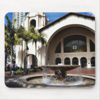 Amtrak Station And Fountain In Downtown San Diego Mouse Pad