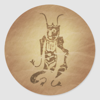 Amulet for Protection Japanese Magic Charms Classic Round Sticker