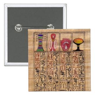 Amulet Hieroglyphs pin brooch