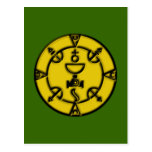 Amulet seal of the queen amulet charm postcard