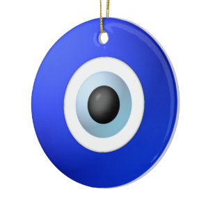 Amulet to Ward off the Evil Eye Ceramic Ornament