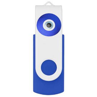 Amulet to Ward off the Evil Eye Swivel USB 2.0 Flash Drive