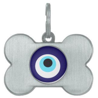 Amuleto de Nazar (boncuğu de Nazar) Placas Mascota