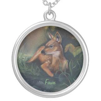 Amuleto de reclinación del cervatillo colgantes personalizados