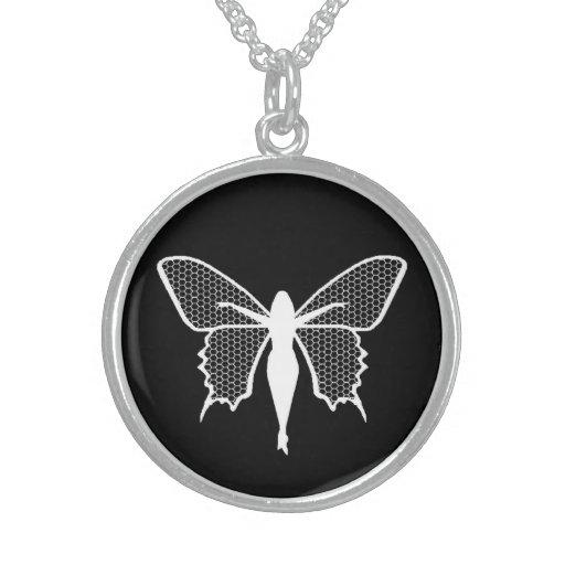 Amuleto de Tylwyth Teg Collar De Plata Esterlina