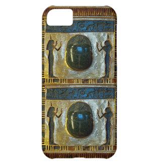 Amuleto egipcio del escarabajo con ISIS Funda iPhone 5C