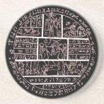 amuleto egipcio tarde demótico posavasos cerveza