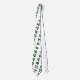 Amuleto herradura hoja de trébol corbata