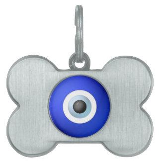 Amuleto para rechazar el mal de ojo placa de mascota