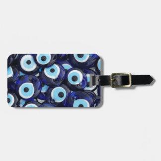 Amuletos de la protección de mal de ojo etiqueta de maleta
