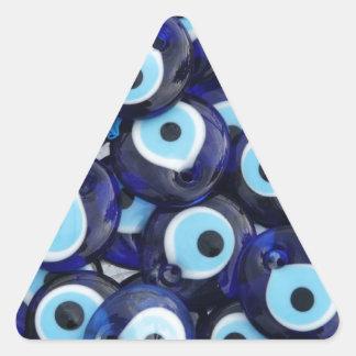 Amuletos de la protección de mal de ojo calcomanías triangulos