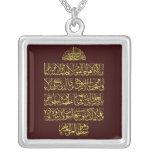 amuletos de la protección del incantation de la colgante cuadrado