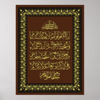 amuletos de la protección del incantation de la póster