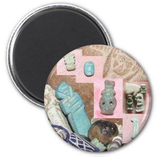 Amuletos egipcios antiguos imán redondo 5 cm