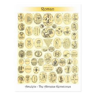 Amuletos romanos - grabados de las piedras precios tarjeta postal