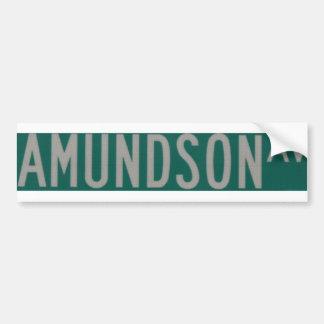 Amundson Ave bumper sticker