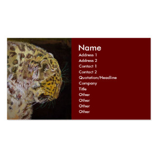 Amur Leopard Business Card Template