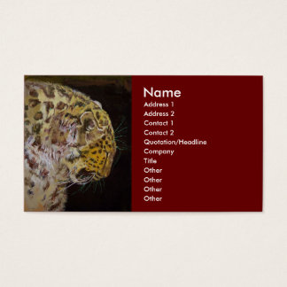 Amur Leopard Business Card
