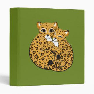 Amur Leopard Cubs Cuddling Art Binders