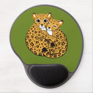 Amur Leopard Cubs Cuddling Art Gel Mouse Pad