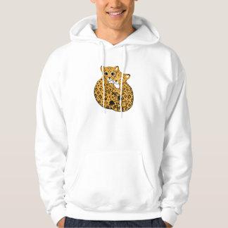 Amur Leopard Cubs Cuddling Art Hoodie