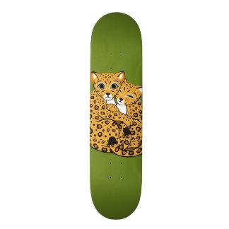 Amur Leopard Cubs Cuddling Art Skateboard