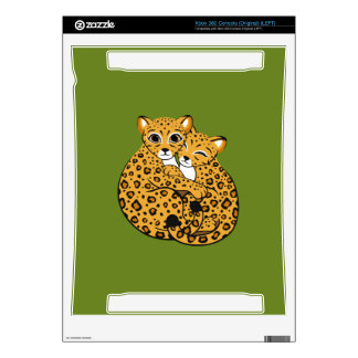 Amur Leopard Cubs Cuddling Art Skin For Xbox 360 Console