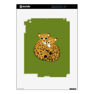Amur Leopard Cubs Cuddling Art Decal For The iPad 2