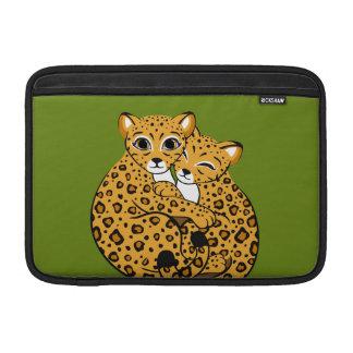 Amur Leopard Cubs Cuddling Art Sleeves For MacBook Air