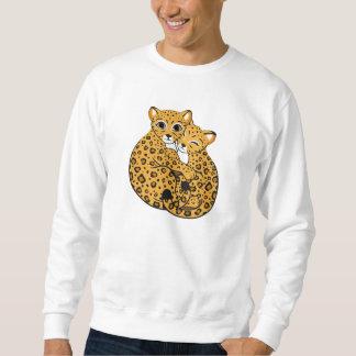 Amur Leopard Cubs Cuddling Art Sweatshirt