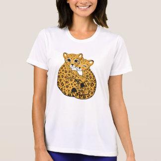 Amur Leopard Cubs Cuddling Art T-Shirt