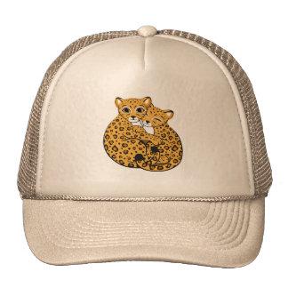 Amur Leopard Cubs Cuddling Art Trucker Hat