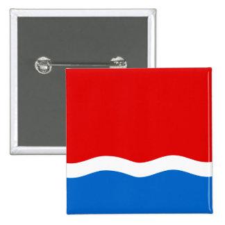 Amur Oblast, bandera de Rusia Pin Cuadrado