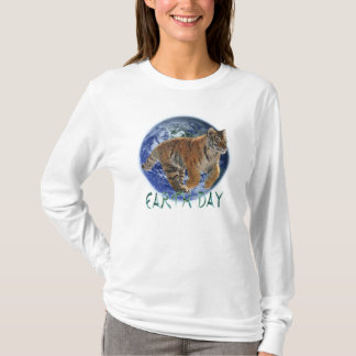 Amur Tiger Cub & Planet Earth Day Wildlife Shirt