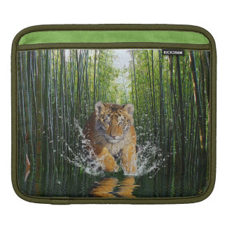 Amur Tiger Cub Wildlife Fantasy Art iPad Sleeve
