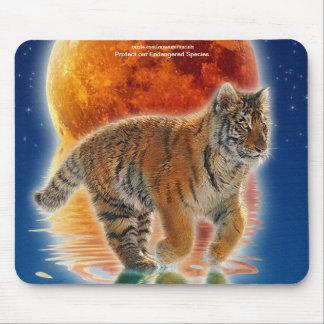 Amur Tiger Cub Wildlife Protection Mousemat Mouse Pad