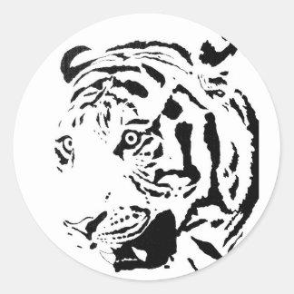 Amur Tiger Drawing Classic Round Sticker