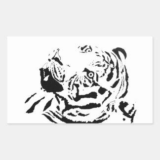 Amur Tiger Drawing Rectangular Sticker