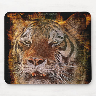 Amur Tiger Face Grunge-style Wildlife Mousemat Mouse Pad