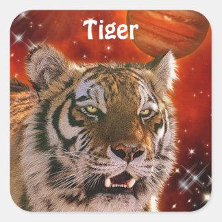 Amur Tiger & Jupiter Big Cat Fantasy Stickers