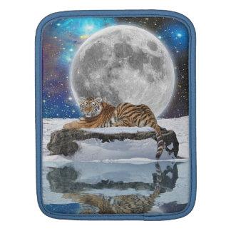 Amur Tiger & Snow Wildlife Fantasy Art iPad Sleeve